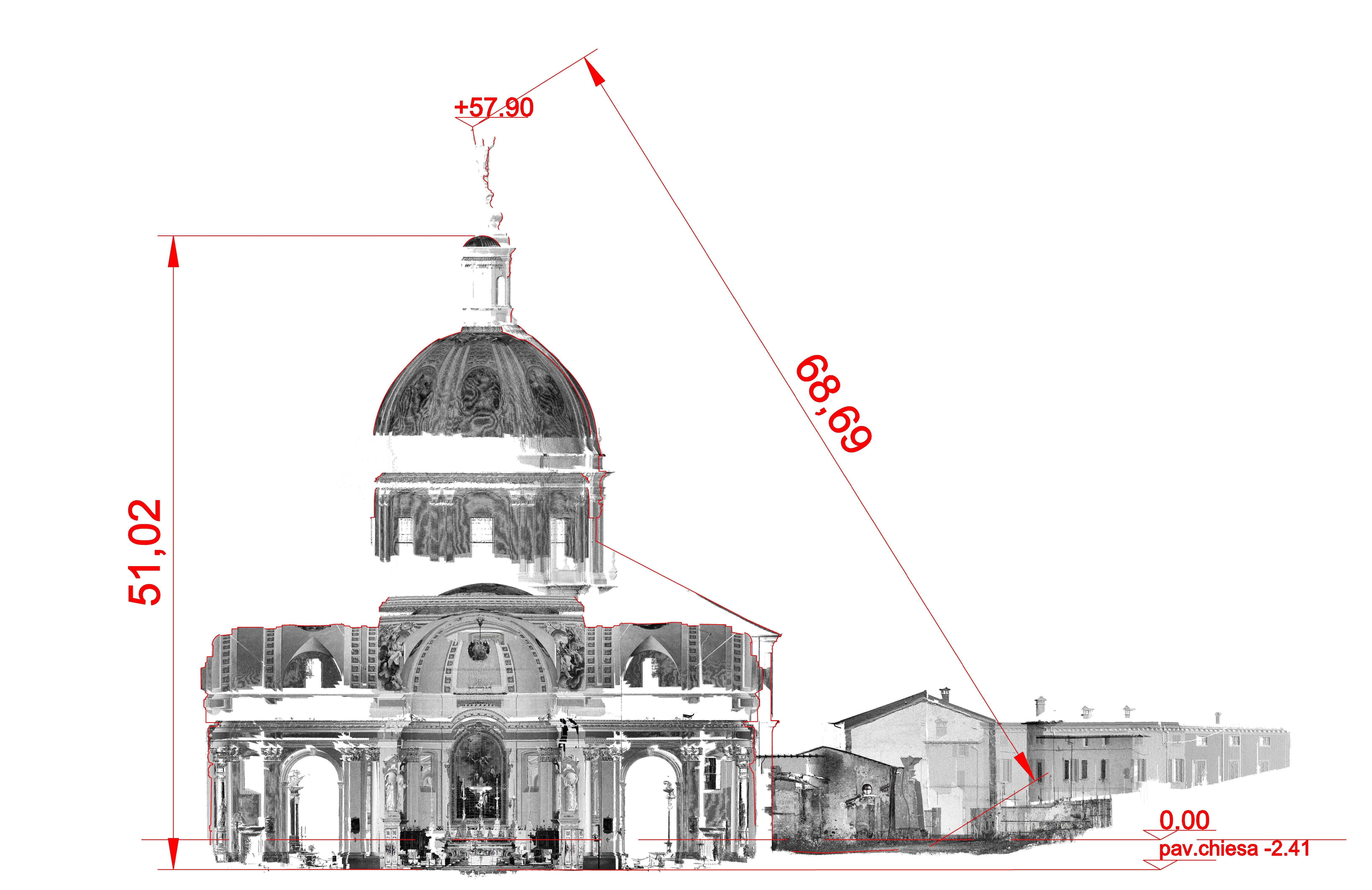 Laser-Scanner-sezione-chiesa-Lonato
